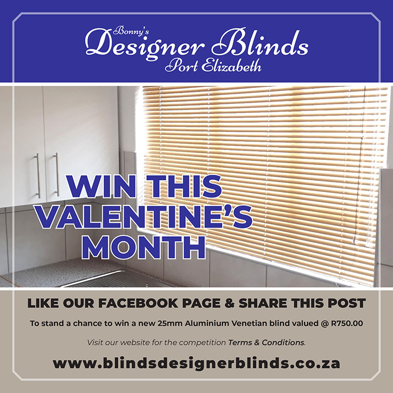 Bonnys Designer Blinds - Feb Like Competition